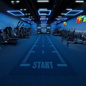 Core Blue HIIT Gym Lifestyle Image